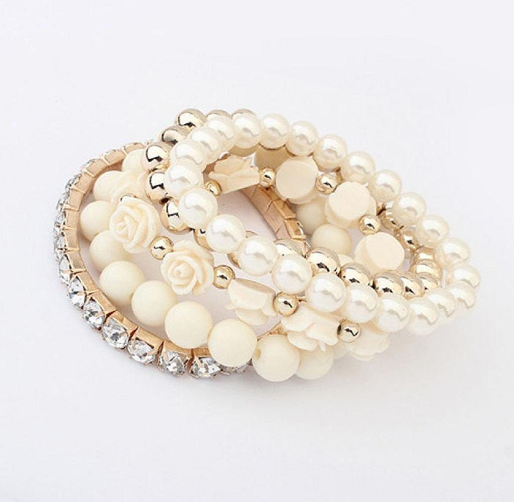 rose and pearl bracelet