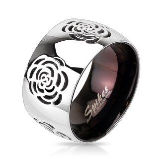 Stainless Steel Two Tone Rose Ring Only $8.94 Shipped!