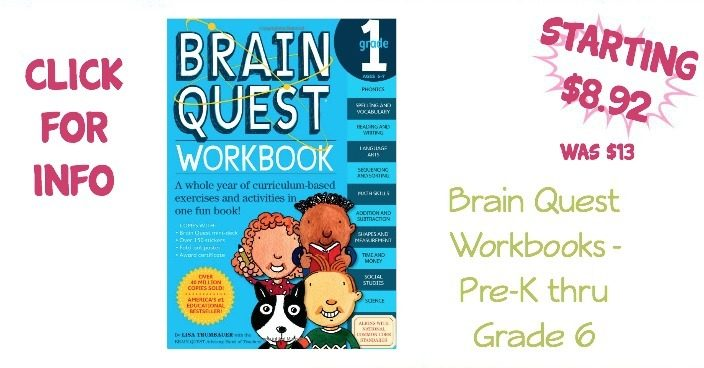 Brain Quest Workbooks - Pre-Kindergarten to Grade 6 - As Low As $8.92!