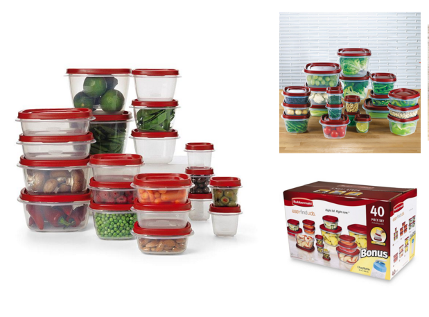Rubbermaid 40-Piece Food Storage Set Was $26 Now Just $7.50!