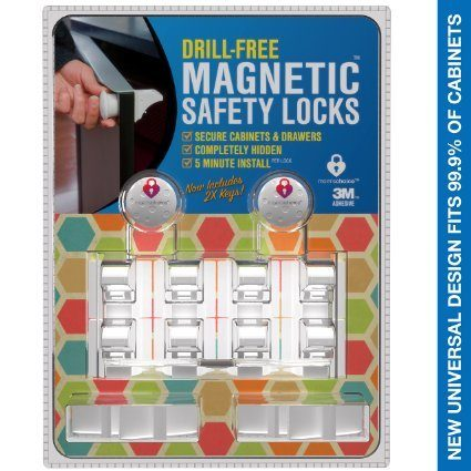 Drill Free Magnetic Safety Cabinet & Drawer Locks $35 + FREE Shipping!