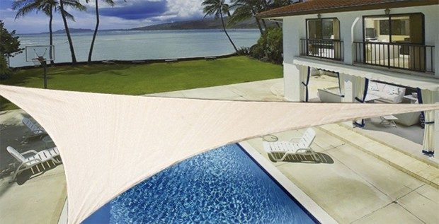ProSource Sand Color 16' Oversized Sun Shade Only $34.99!