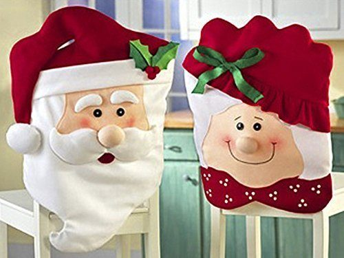 Mr & Mrs Santa Claus Christmas Kitchen Chair Covers Only $5.09!  Ships FREE!