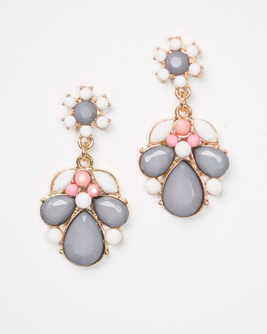 Cents of Style - Sasha Floral Statement Earrings Only $14.95!