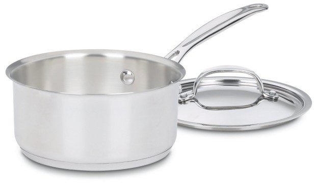 Cuisinart Stainless 1.5-Quart Covered Saucepan Only $14.96! Down From $40!
