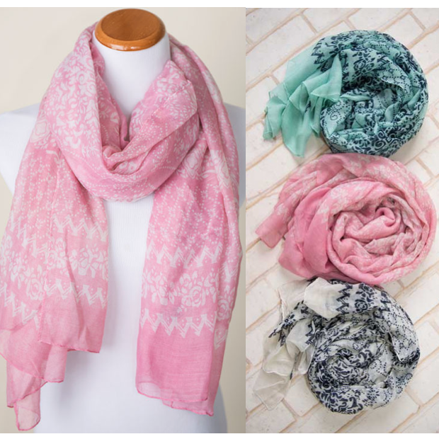 Floral Stamped Scarves Only $5.95, Regularly $19.95 + FREE Shipping!