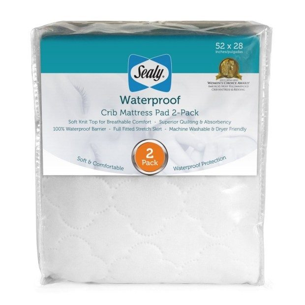 Sealy Waterproof Crib Mattress Cover 2 Pk Just $22.81! (Reg. $40)