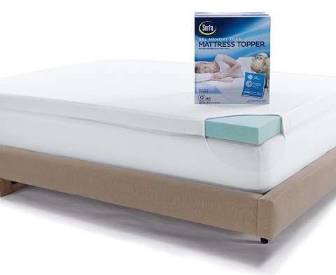 Serta 3-in. Deep-Pocket Gel Memory Foam Mattress Topper Starting At $99.99!  Down From $299.99!