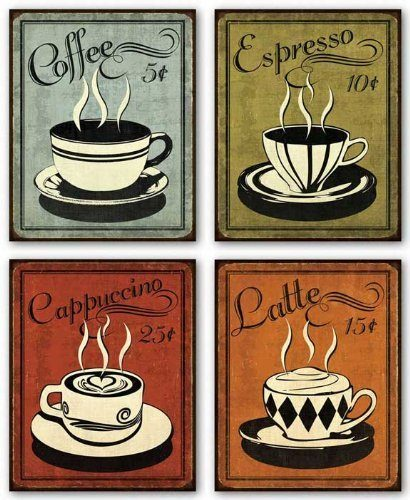 Set of 4 Retro Coffee Prints Only $8.63 + FREE Shipping!