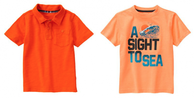 Boys Tees and Polos $5.99 & Up At Gymboree!