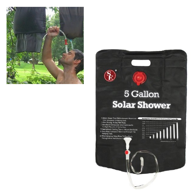 5 Gallon Solar Shower Only $7.99 Plus FREE Shipping!