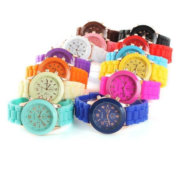 Candy-Colored Silicone Quartz Watch Only $3.74! Ships FREE!