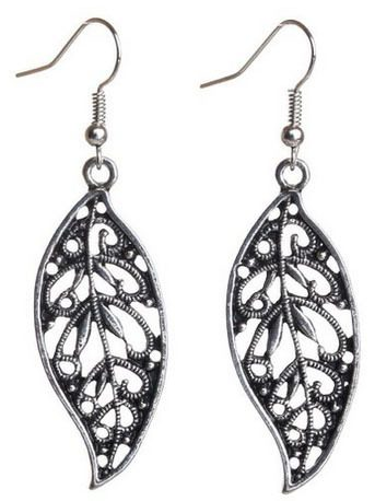 Silver Leaf Shape Earrings Just $2.67 + FREE Shipping!