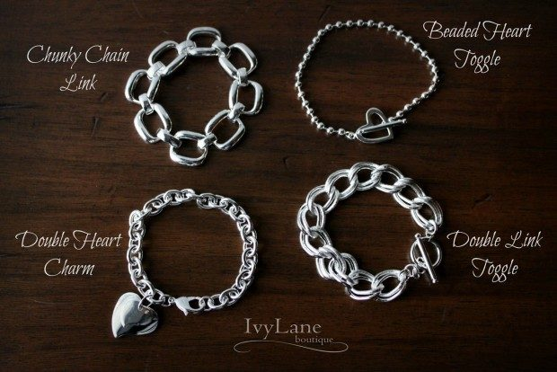 925 Sterling Silver Plated Bracelets- 13 Styles Just $9.99!