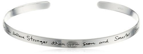 Sterling Silver Inspirational Cuff Bracelet Only $34.67!