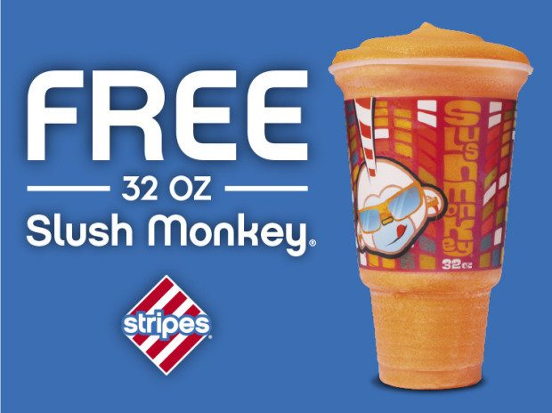 FREE 32 Oz. Slush Monkey At Stripes!