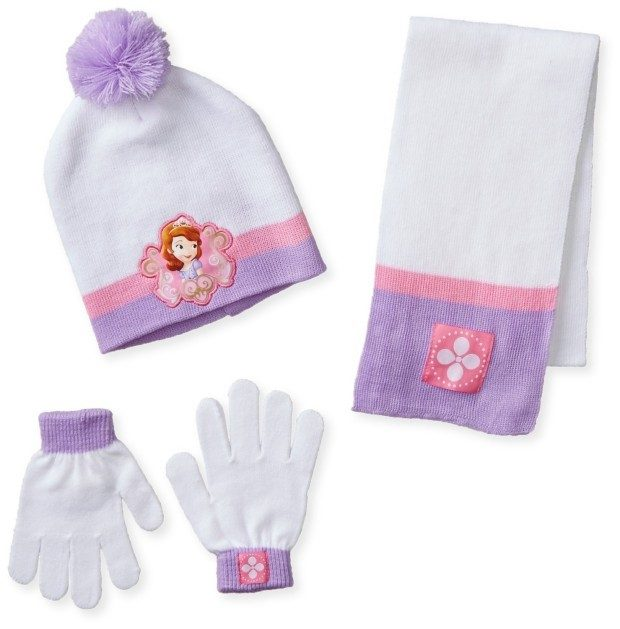 Princess Sofia The First Pom Beanie, Gloves and Scarf Set Only $7.31!