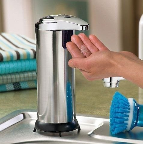 Touchless Motion Activated Stainless Steel Soap Dispenser Just $9.99 At GearXS! Ships FREE!