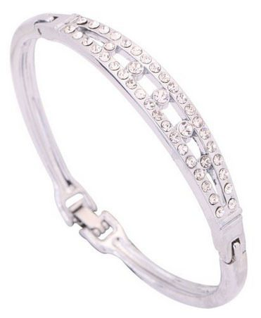 Sparkling Crystal Inlay Bracelet Just $4.06 Shipped!