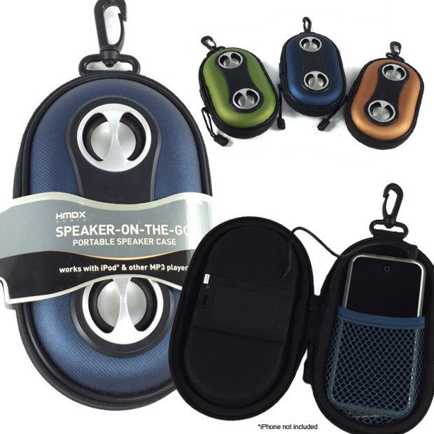 HMDX Speaker-On-The-Go Portable Speaker Case $6.99 Plus FREE Shipping!