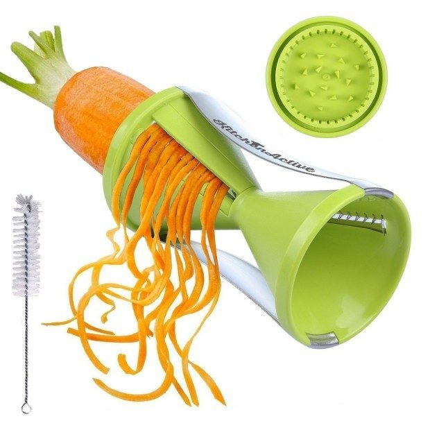 Kitchen Active Spiralizer Spiral Slicer, Green Just $7.97! (Reg. $20!)