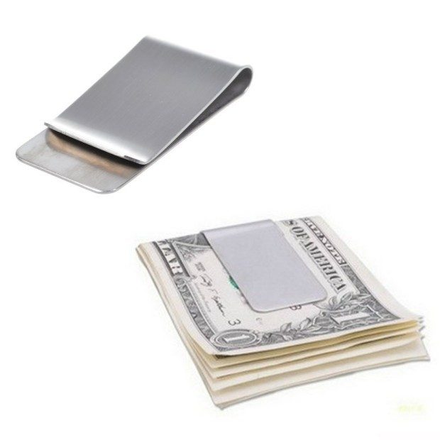 Set of 2 Stainless Steel Money Clips Just $3.94 + FREE Shipping!