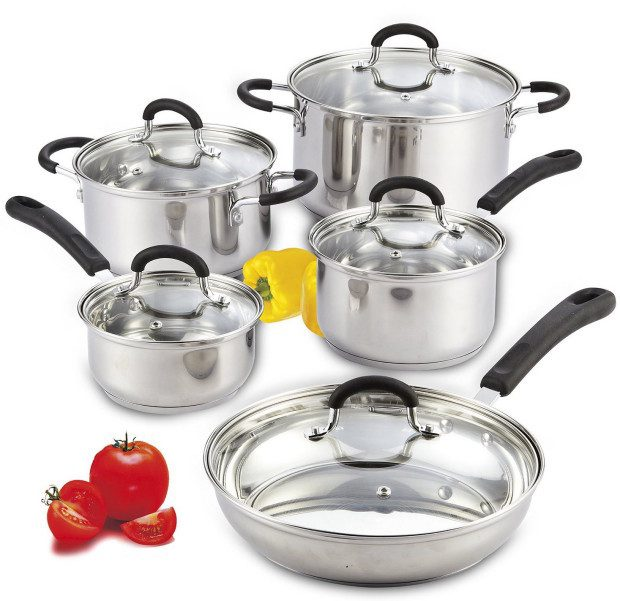 10 Piece Stainless Steel Cookware Set Just $64.99! (Reg. $99)