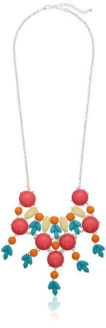 Turquoise and Coral Statement Necklace Only $3.81!
