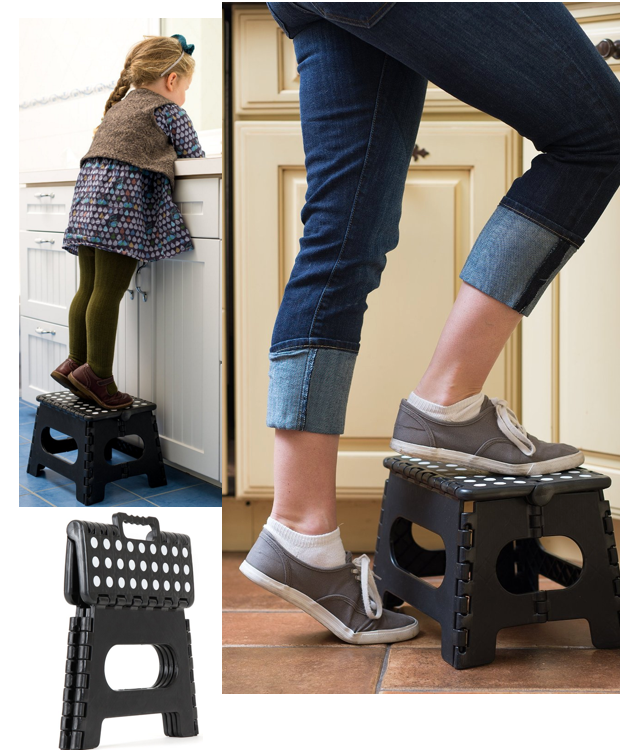 "Folding Step Stool, 9"" x 11"" Just $11.95!"