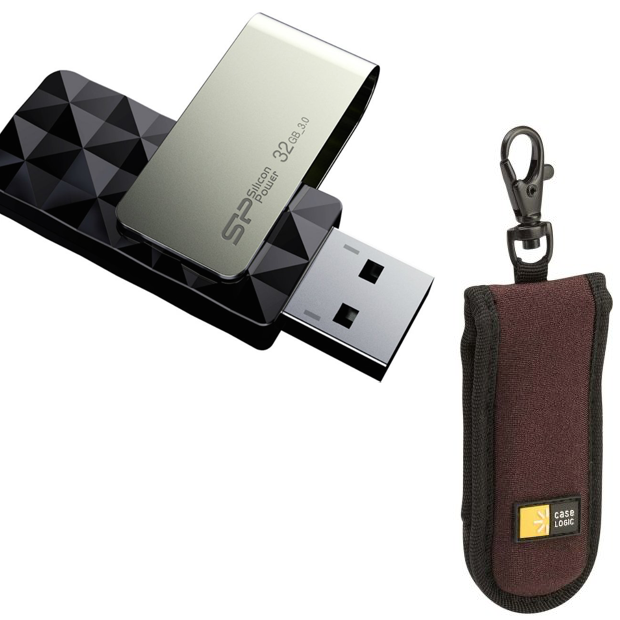 Flash Drive 32 GB & USB 3.0 Only $11.95 And 2 Drive Carrying Case As Low As $3.48!