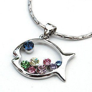 studded fish necklace