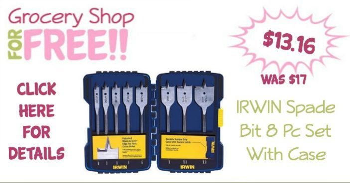 IRWIN Spade Bit 8 Pc Set With Case Just $13.16! (Was $17)