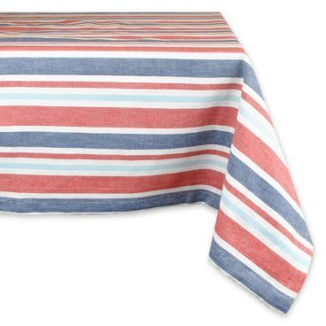 "Patriotic Stripe Tablecloth 60"" x 84"" Just $21.59! (Reg. $27)"
