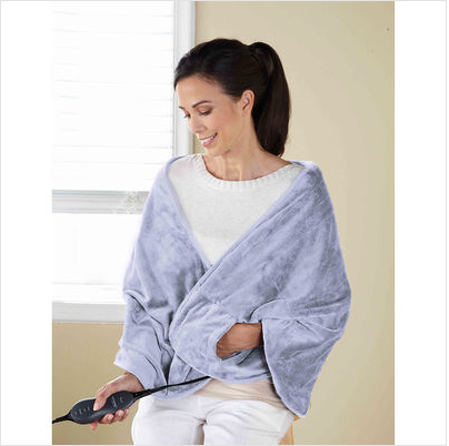 Sunbeam® Royal Mink™ Chill-Away™ Heated Wrap, Lavender Only $18.99!