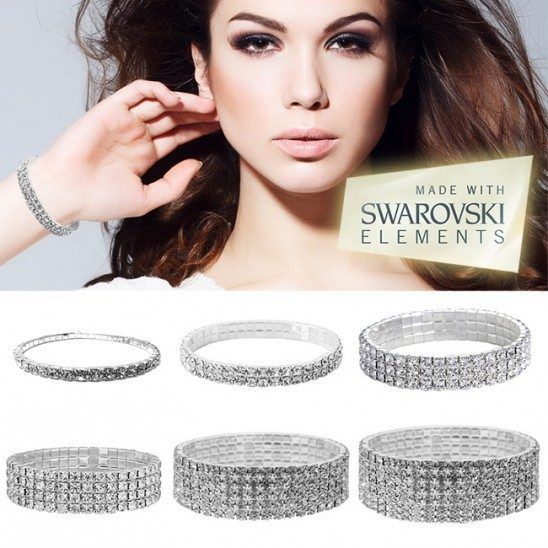 Swarovski Elements Crystal Bracelets - Single Tier Just $3.99! Ships FREE!