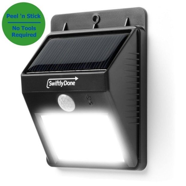 Outdoor Solar LED Peel 'n Stick Motion Sensor Spotlight Only $16.87!