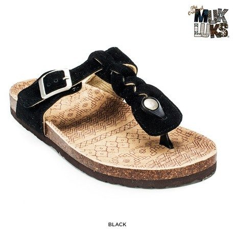 MUK LUKS: Braided T-Strap Sandals Only $24 Shipped!