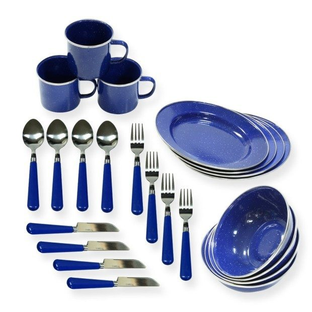 Stansport Enamel Tableware Set Only $23.32!