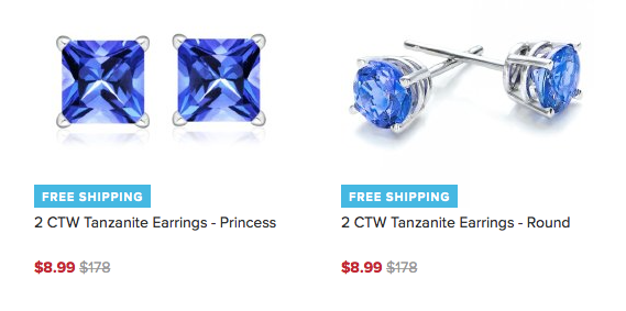 Tanzanite Earrings Only $8.99 A Pair Plus FREE Shipping!
