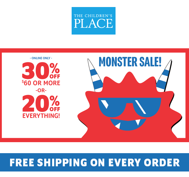 The Children's Place Up To 30% Off ONLINE Plus FREE Shipping!