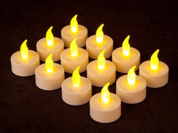12 Battery Operated LED Tealight Candles Only $4.40 Shipped!