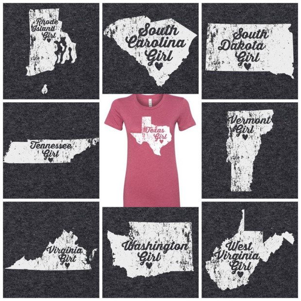 Home State Girl Graphic Tees Only $11.99!