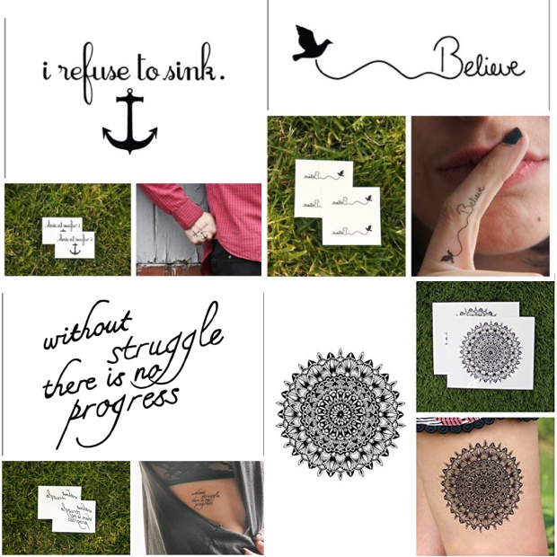 Temporary Tattoos Only $5 + FREE Shipping!