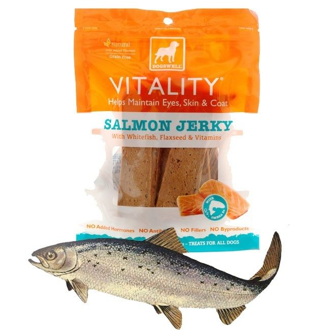 2 Bags of Dogswell Vitality Salmon Jerky Dog Treats Only $7.99 Plus FREE Shipping!
