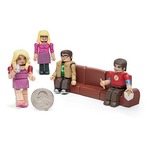 Big Bang Theory Minimates - 4 Character Set With Accessories Only $17.49!