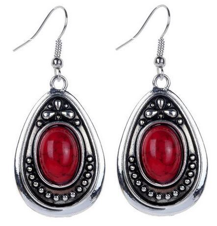 Silver Oval Dangle Drop Hook Earrings $1.27 + $2.38 Shipping!