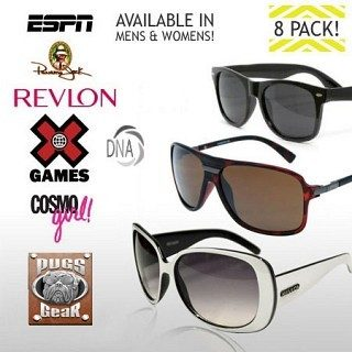 8 Pack Of Name Brand Sunglasses Just $9.99! Down From $160.00!