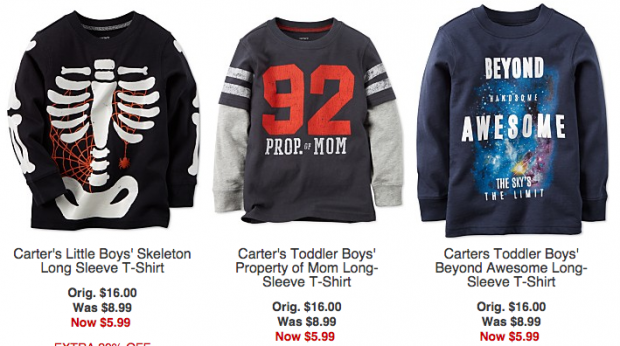 Extra 20% Off Clothes: Toddler Boys' Long Sleeve Tees Just $4.79!