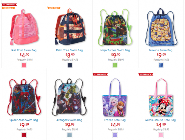 Kids Totes And Swim Bags As Low As $4.99!