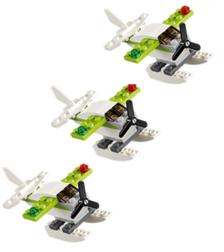 FREE LEGO Sea Plane Mini Model Build 6/7 & 6/8!